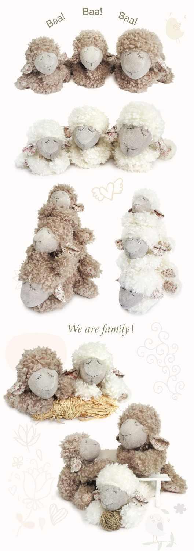 الفاخرة كرة لولبية النوم الضأن أفخم دمية كبيرة ل نورسي ديكرو لطيف الأبيض رقيق الأغنام أفخم محشوة ألعاب حيوانات 30 سنتيمتر