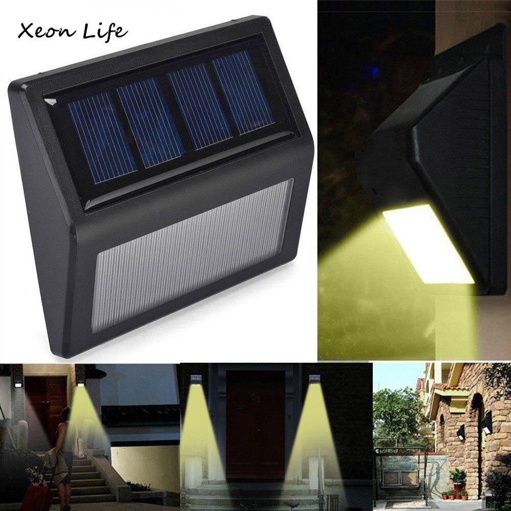 ISHOWTIENDA Waterproof 6 LED Solar Power PIR Motion Sensor Wall Light Outdoor Garden Lamp