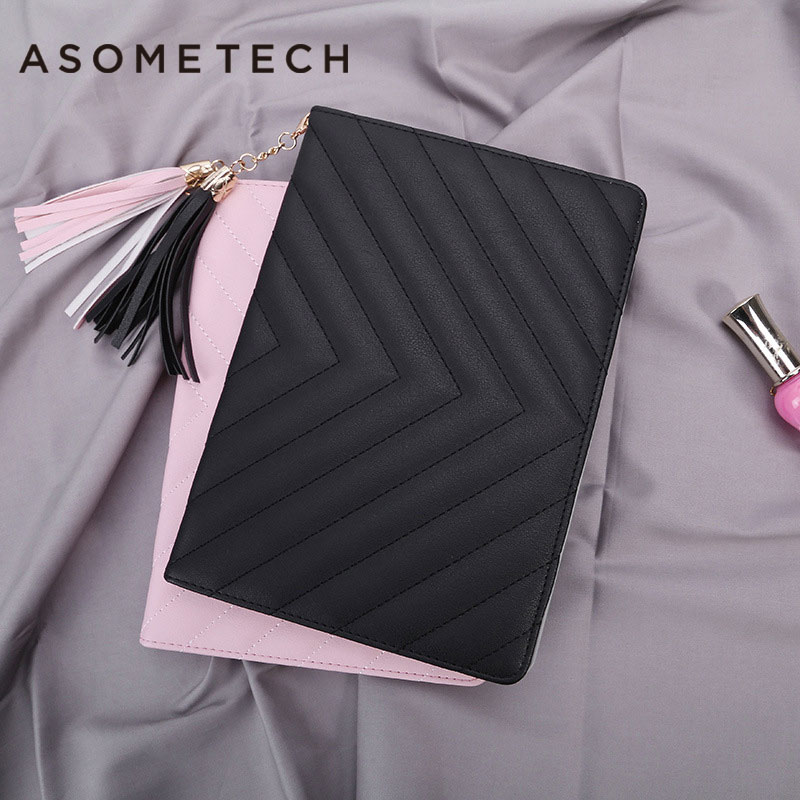 For Apple iPad air 1 air 2 Wallet Flip Case Multi-folding Magentic Lovely tassel