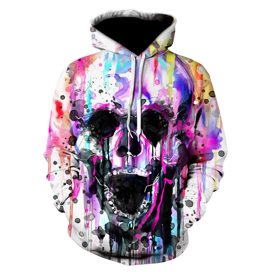 Fashion Hoodie Sweatshirts Men Womens Hoodies Long Sleeve Skull Punisher Grim Reaper 3D Print Hip Hop Hooded Pullover Jacket