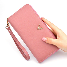 New Ladies Tassel Wallet PU Leather Long Zipper Large Capacity Clutch Bag Fashion Womens Lychee Pattern Mobile Phone