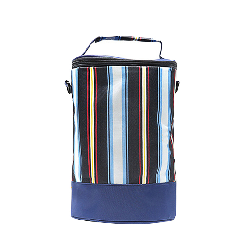 Multifunction Striped Cooler Bag Tote Bento Bags Freezer Large Thermal Insulated Lunch Box Wholesale Organizer Product Organizer