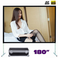 180 inches Fast Fold Projector Screen Quick Folding Projection Screens for Outdoor Concerts Exhibitions Cinema 4:3/16:9 optional