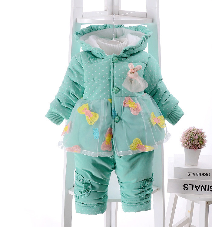 2016 winter new born infant baby girl clothes clothing set sets 2 pieces pcs floral pink yellow sweet cute princess