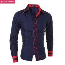 Men Shirt 2017 New arrival Fashion Brand Men'S Double Button
