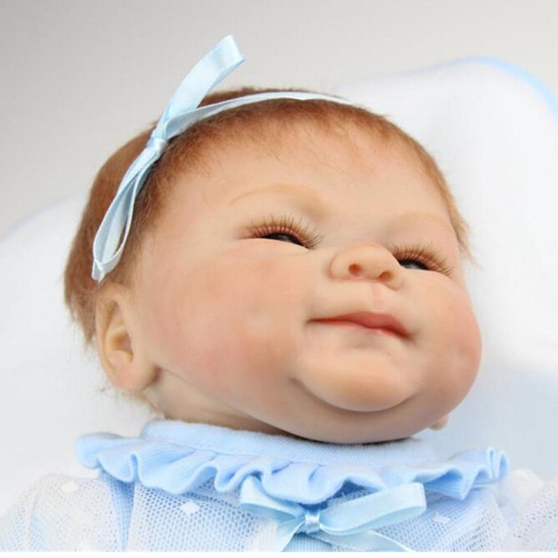 NPK Collection Reborn poupée Silicone doux poupées jouet 40 cm/16 pouces, réaliste poupée enfant cadeau d'anniversaire réaliste bébé nouveau Reborn jouet - 4