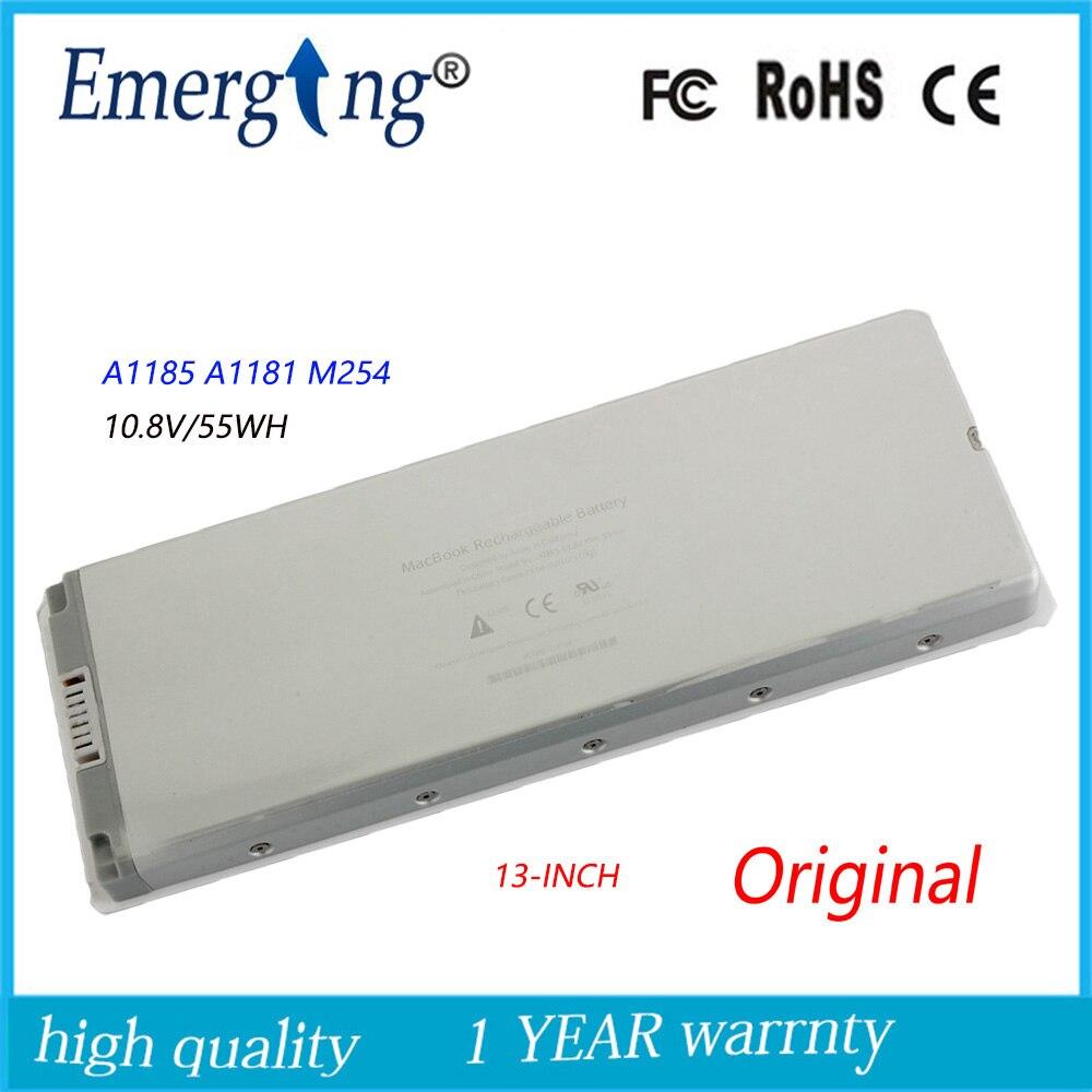 10.8 V 55WH Nouveau Original batterie d'ordinateur portable pour APPLE MacBook A1185 MB402 A1181