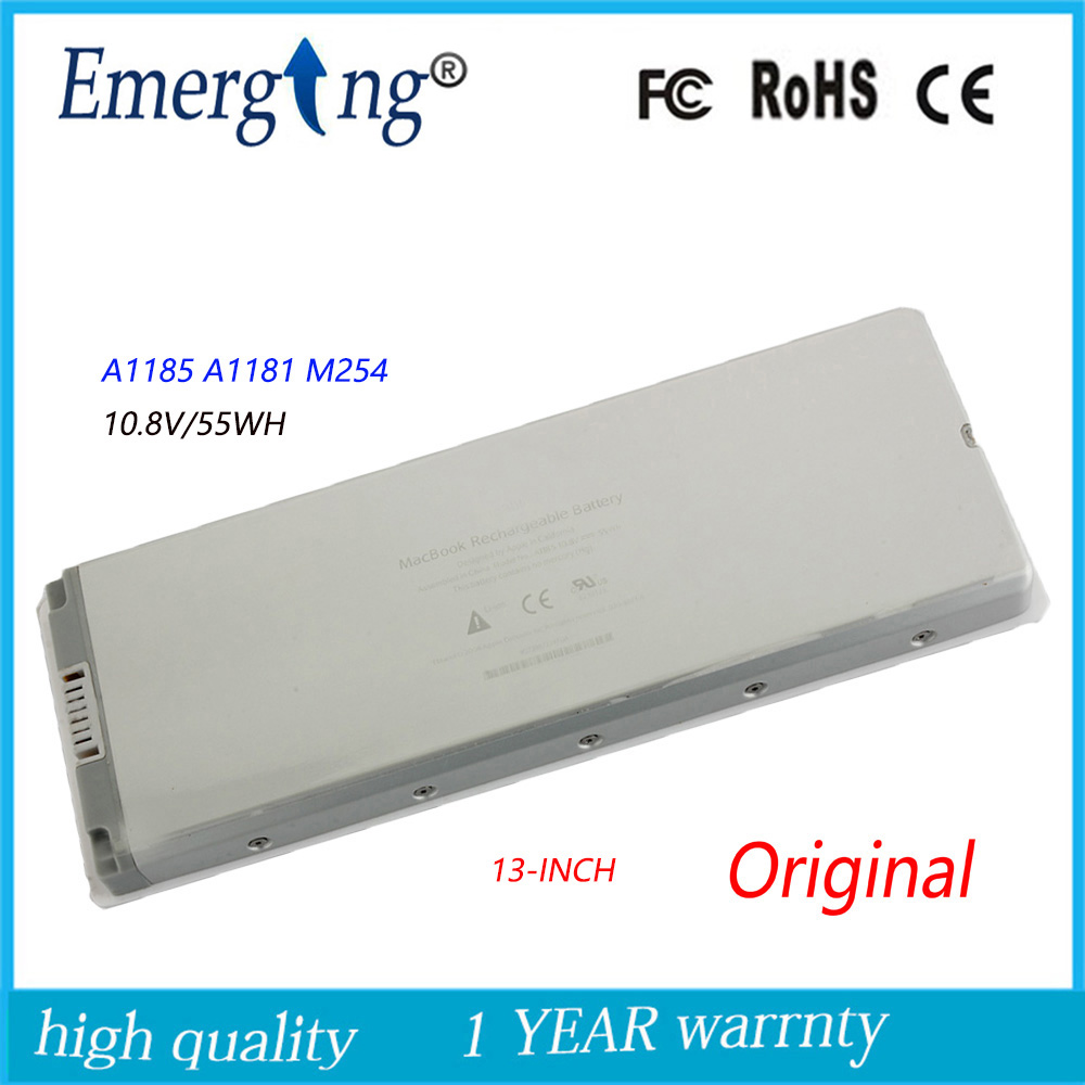 10.8V 55WH Nytt, originalt laptopbatteri til APPLE MacBook A1185 MB402 A1181