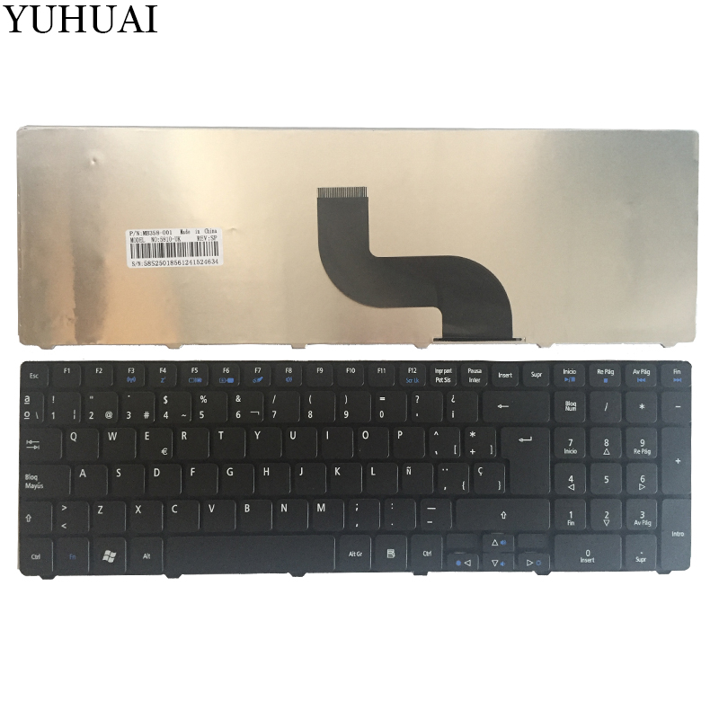 Spanish For Acer Aspire 5810T 5536G 5738Z 5810 5739 5338 5410t 5538 5542 5538G 5542G 7560 7560G 7739 5625G SP Laptop Keyboard