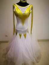 white  Competition Ballroom dance dress,tango salsa samba dance dress,latin dance wear,Rumba Jive Chacha