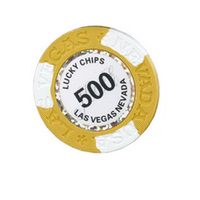 INSTOCK 20 PCS LOT LUCKY CHIPS Poker Chips 14g Clay Iron ABS New Design Chips Texas