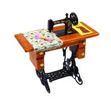 Mini máquina de coser Vintage, casa de muñecas, muebles en miniatura Silvani, decoración familiar, apto para accesorios de casa de muñecas a escala 1:12