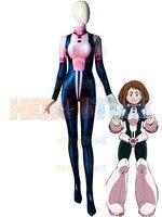 Uraraka Costume 3D Print Pink Spandex Tight Female Cosplay Costume My Hero Academia Ochaco Uraraka Costume Custom Made