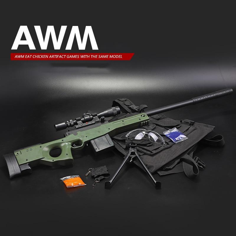 Nouvellement AWM Sniper fusil manuel Orbeez balles à eau douce jouets pistolets Silah Airsoft pistolets à Air pour jeux CS en plein Air jouets pour enfants