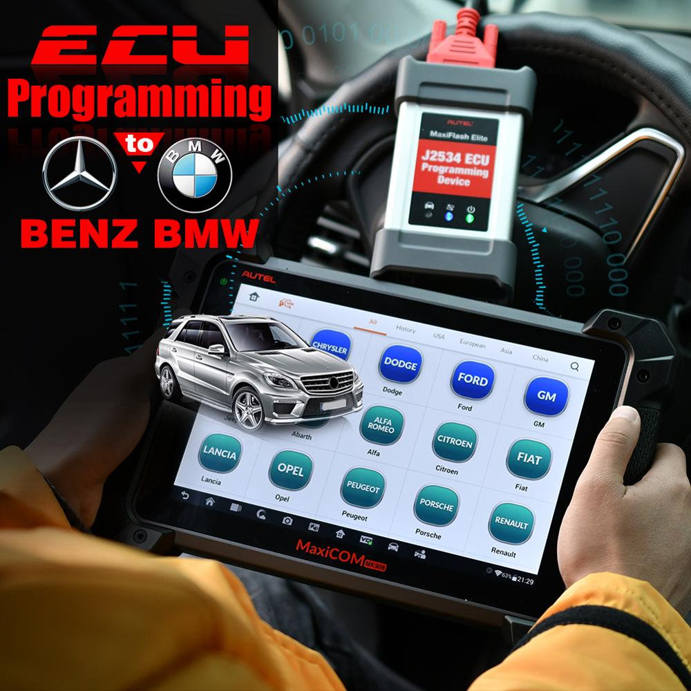 Image 2 - Autel MaxiCOM MK908P MK908 PRO Diagnostic Tool MaxiSys MS908P OBD2 Scanner PK MaxiSys Pro Elite ECU Programming for BMW for BENZ-in Engine Analyzer from Automobiles & Motorcycles