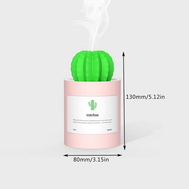 Mini USB Desktop Air Purifier Mist Maker Water Tank Home Office Decoration Diffuser Cactus Air Humidifier
