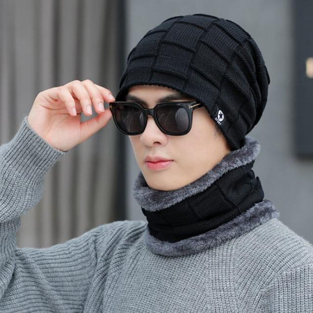 682e3414ac3 Winter Hats pattern Skullies Beanies Hat Winter Beanies For Men Women Wool  Scarf Caps Balaclava Mask Gorras Bonnet Knitted