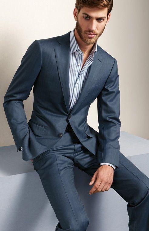 2017 Latest Coat Pant Designs Grey Men's Wedding Suits ...