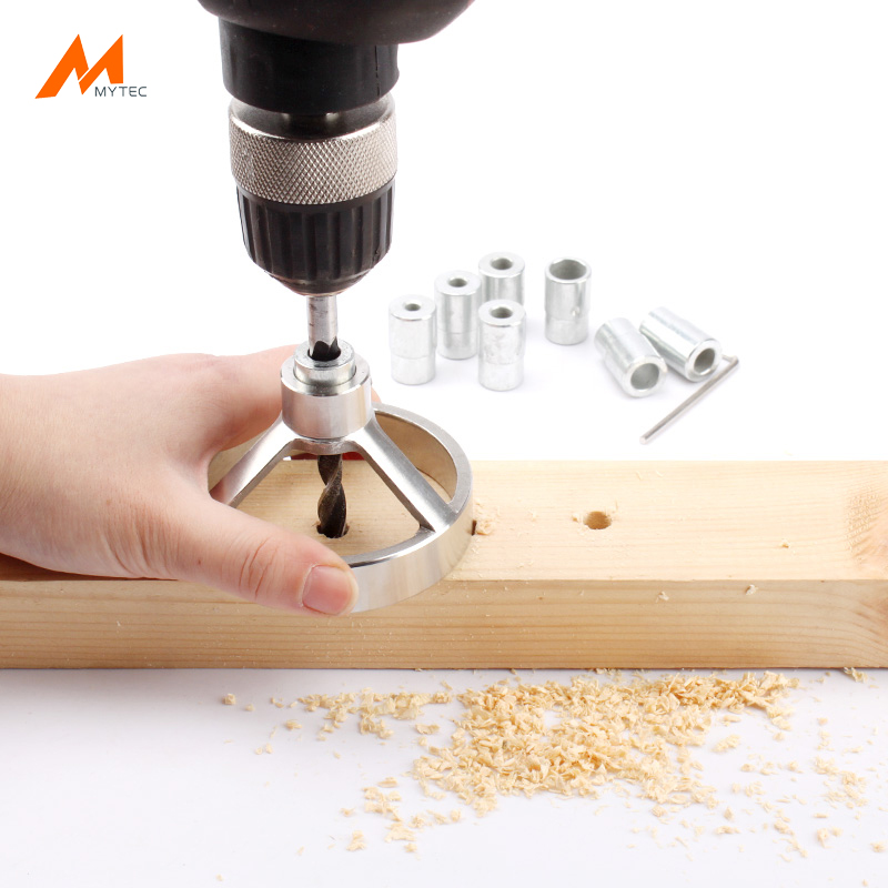 Stainless Steel Self-Centering Dowel Jig Kit with 7pc Drill Stop Collar and 7pcs Bushings (5/6/7/8/9/10/12mm)