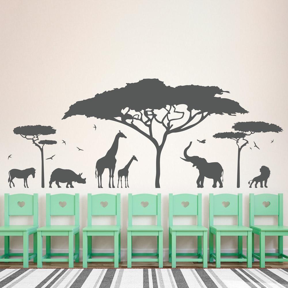 popular giraffe wall decals buy cheap giraffe wall decals lots african safari wall decal vinyl art sticker zoo nature giraffe nursery elephant removable wallpaper bedroom decor