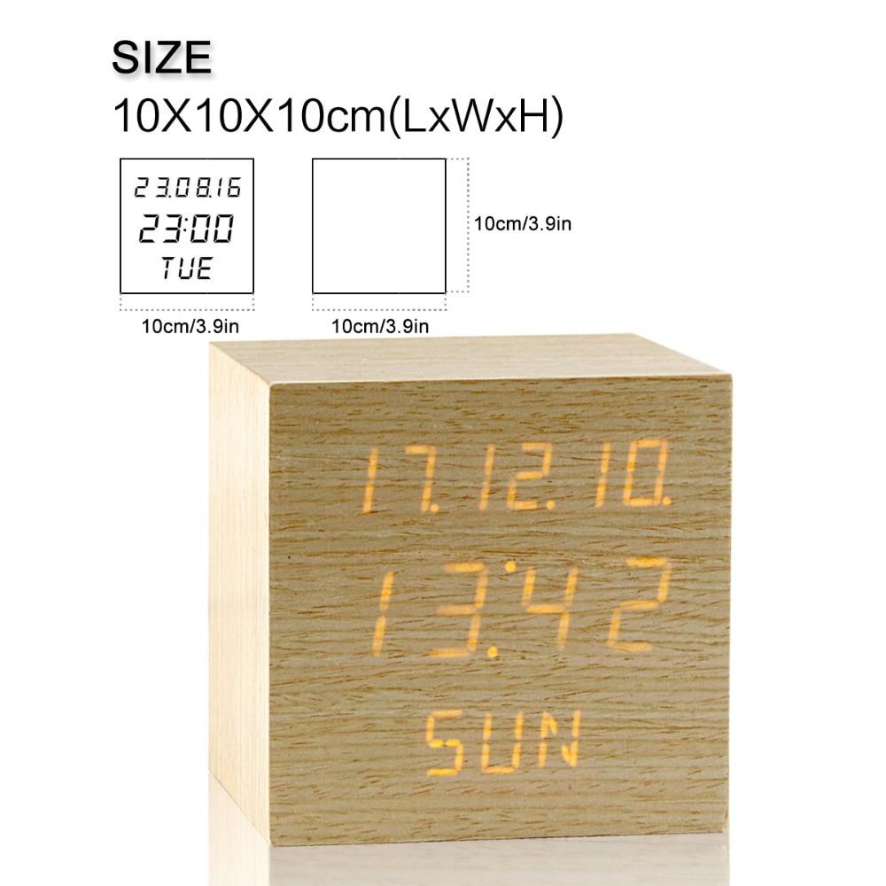 JINSUN Αναβαθμισμένη οθόνη LED Ξυπνητήρι, - Διακόσμηση σπιτιού - Φωτογραφία 4