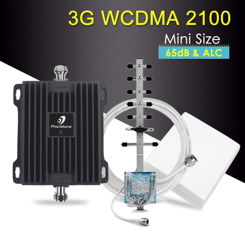 3G Repeater 2100MHz Cellular Signal Booster WCDMA 3G Repeater Band 1 65dB 3g Signal Booster Mobile Cummunication Amplifier Kit