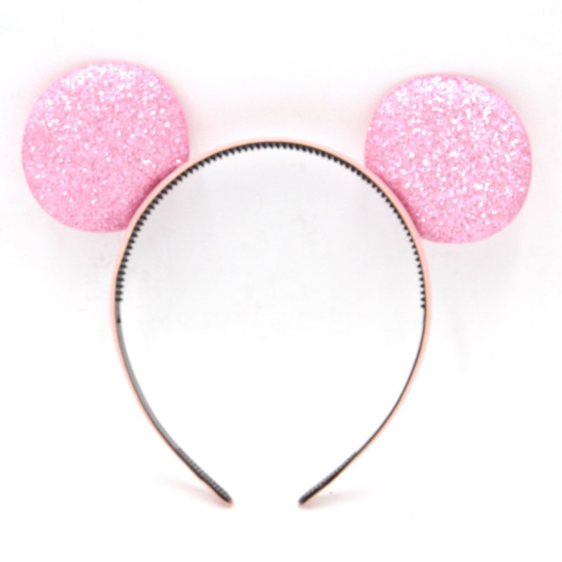 10pcs/lot 23Colors Baby Girl Minnie Mouse Ear Hairband Trendy Baby Girl DIY Hair Accessories For Kids Children 2016 Headwear