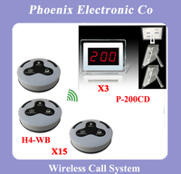 Low Price Tabletop Service Bell Wireless Waiter Call System With 15 Restaurant Button H3 WBB 3 Pagers P 200CD Lowest Price