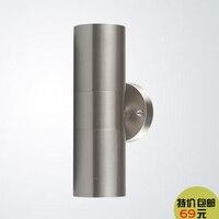 Stainless steel outdoor wall lamp, outdoor courtyard lamp waterproof, loft wall creative investment garden wall FG238