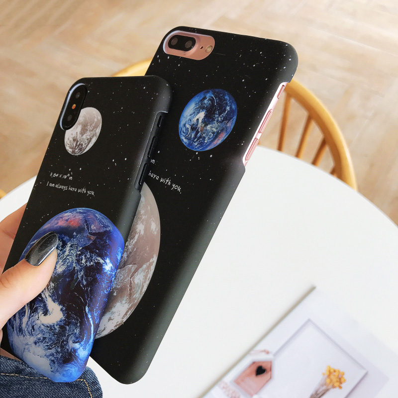 KIP7P1253_4_JONSNOW Phone Case For iPhone 6 6S 7 8 Plus Earth Planet Starry Sky Patterns PC Hard Case for iPhone X XR XS Max Back Cover Capa Fundas
