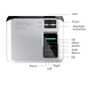 Image 4 - Smartldea novo 720 p hd projetor wi fi, nativo 1280*720 p, projetor espelho, mini led vídeo proyector casa vídeo beamer sync display