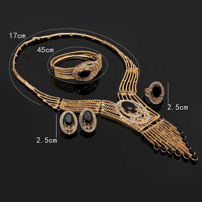 Fani 2018 תכשיטי חרוזים אופנה אפריקאים סט מותג צבע זהב דובאי עיצוב סיטונאי סט תכשיטי סט תכשיטים ביד כלה ניגרית