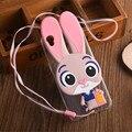 Para oppo a53 a37 r7 lindo conejo de dibujos animados caso de la cubierta suave último slim nuevo caso protector de la cáscara del teléfono móvil