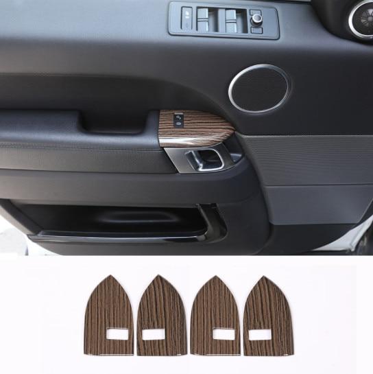 Sable bois Grain Style ABS plastique enfant serrure cadre de protection garniture pour Landrover Range Rover Sport RR Sport 2014-2017 4 pièces