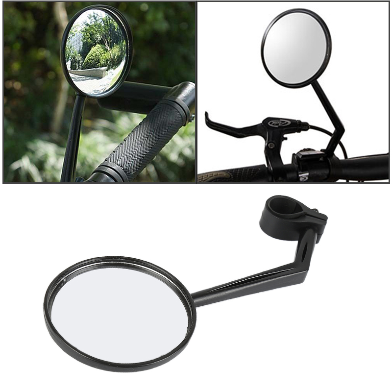 Handlebar End Cap Glass Mirror Plastic Housing with Reflector MTB Bike Bicycle