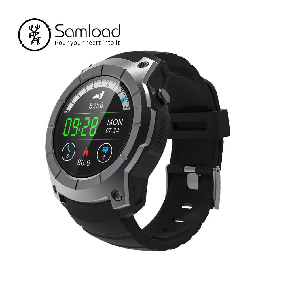 Samload S958 GPS Smart Watch Heart Rate Monitor Sport Waterproof SIM Card Support Bluetooth band for Android IOS Phone X Xiaomi s958 gps smart watch heart rate monitor sport ip68 waterproof support sim card bluetooth 4 0 smartwatch for android ios phone
