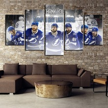 5 Piece Canvas Painting Ice Hockey Team Poster Modern Decorative Paintings on Wall Art for Home Decorations Decor