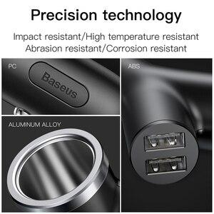Image 5 - Baseus 40W chargeur de voiture pour téléphone portable universel double USB voiture allume cigare fente pour tablette GPS 3 appareils voiture chargeur de téléphone