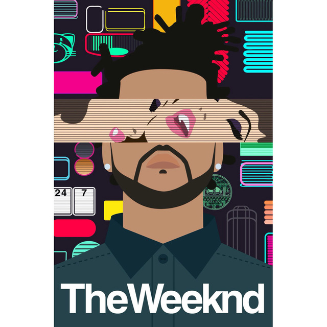 J0438 The Weeknd Abel Makkonen Sign Singer Music Pop 14x21 24x36 Inches Silk Art Poster