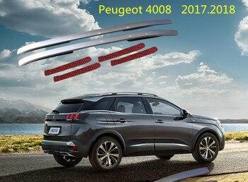 Pour Peugeot 4008 2017.2018 barres de toit Auto porte-bagages de haute qualité tout nouveau aluminium pâte Installation accessoires de voiture