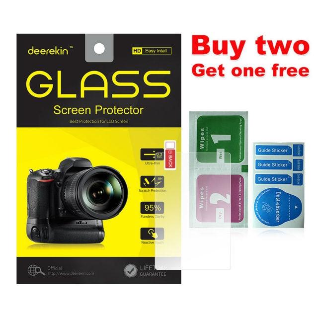 Deerekin 9H temperli cam LCD ekran koruyucu w/üst LCD Canon için Canon EOS R Ra RP 70D 77D 9000D 600D 80D 90D 6D Mark II 6D