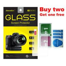 Deerekin szkło hartowane 9H ochrona ekranu LCD w/ Top LCD Film dla Canon EOS R Ra RP 70D 77D 9000D 600D 80D 90D 6D Mark II 6D