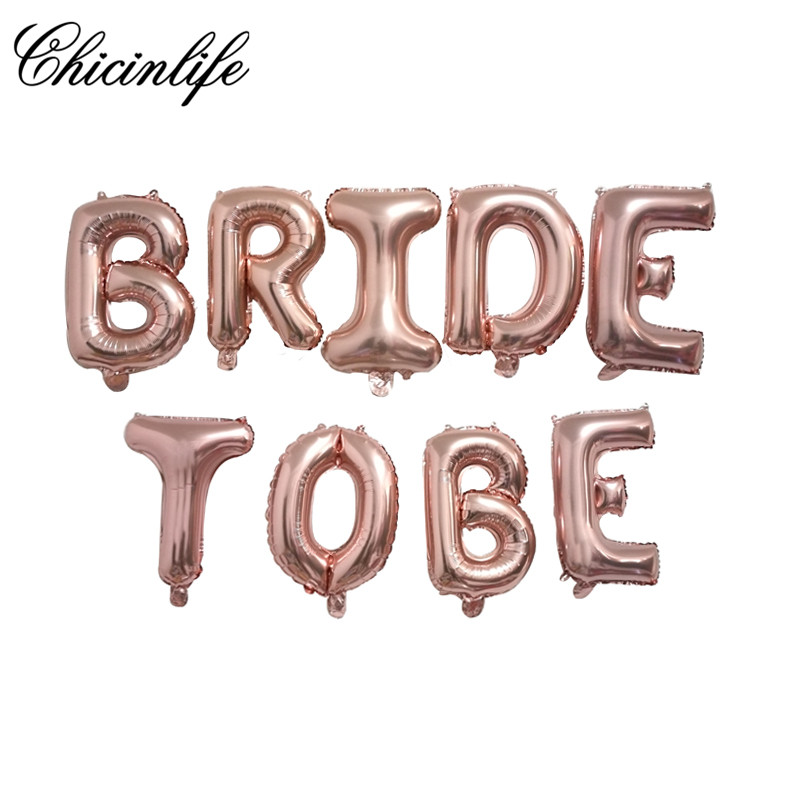 Chicinlife BRIDE TO BE foil letter balloon banner Bachelorette Hen Party Bridal Shower Wedding Celebration decoration supplies