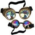 Colorido Lente Óculos Óculos Steampunk Óculos Óculos de Solda De Prata Gótico Cosplay New Hot Vender Vintage Festa Do Dia Das Bruxas