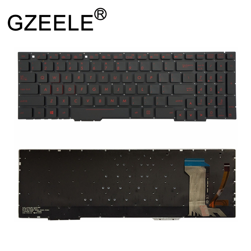 GZEELE Black US Layout Keyboard For Asus ZX73VD ZX73VE ZX753VD GL553VW With backlit gzeele 98