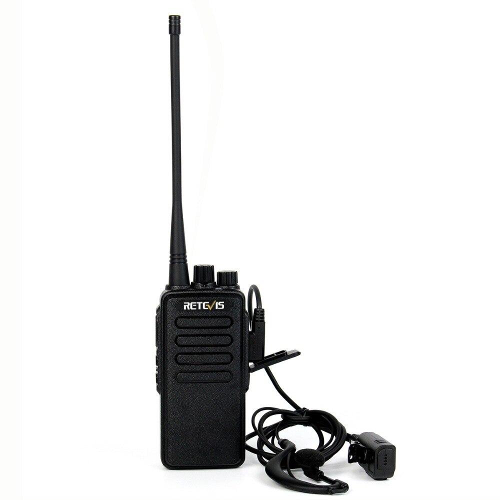 10 w Puissant Talkie Walkie Retevis RT1 Professionnel Longue Portée Radio Bidirectionnelle Émetteur-Récepteur VOX Scrambler UHF (ou VHF) 2 antennes