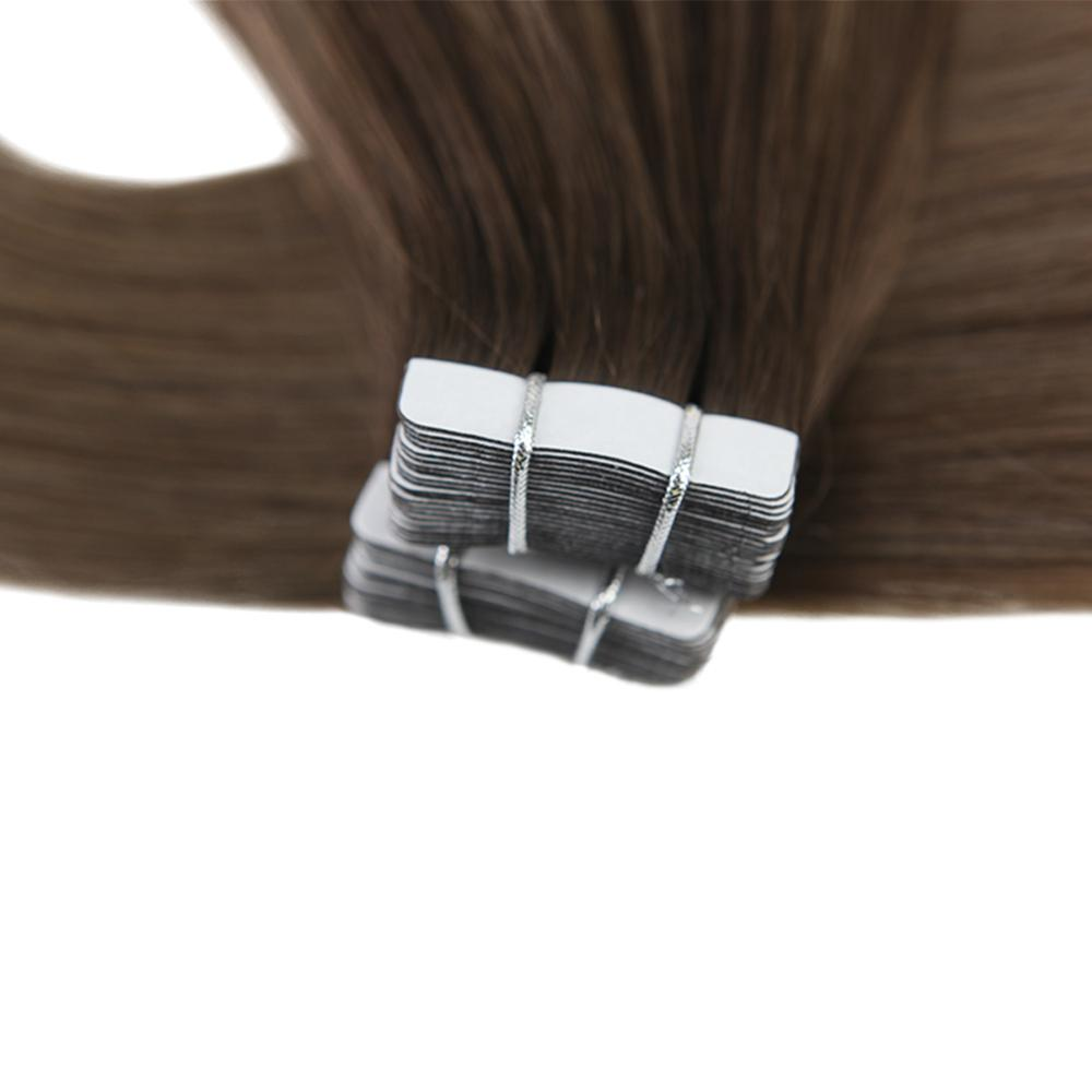 Image 4 - Moresoo 14 24 inch Tape in Human Hair Extensions Real Brazillian Remy Hair Ombre Balayage Colored Hair 2.5G/PCS 25G 100G-in Tape Hair Extensions from Hair Extensions & Wigs