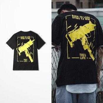 Camiseta con estampado de Born To Lose Dying To Win Thus Life Ak47 para hombre, Camiseta con estampado con pistolas de calle de Hip Hop para hombre, camiseta para hombre