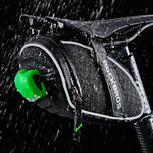 ROCKBROS Bicycle Saddle Bag 3D Shell Rainproof Bike Rear Seatpost BAGS large capacity Reflective Bag MTB Cycling Accessories
