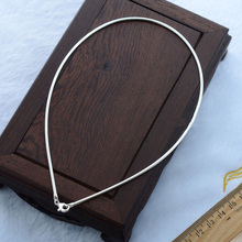 Elegant Simple Choker Collars Necklace For Women Real Pure 925 Sterling Silver Jewelry 16 18 20 22 24 Inch